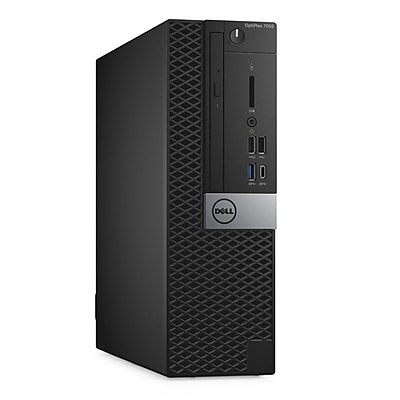 Dell Optiplex 7050 Intel Core i7-6700 X4 3.4GHz 32GB 500GB Win10, Black (Certified Refurbished)