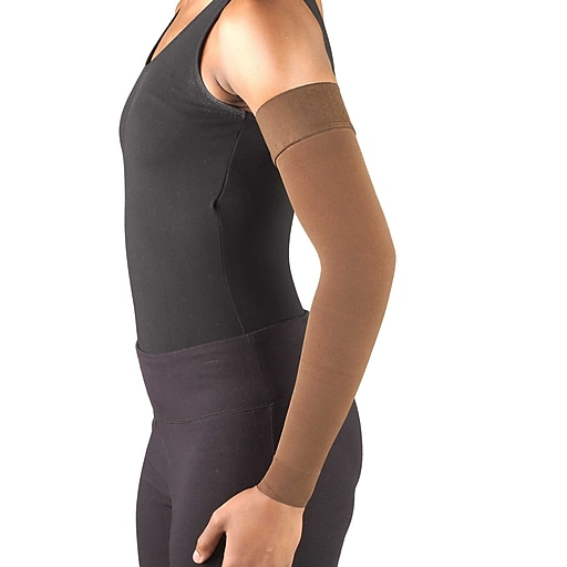 Truform Lymphedema Compression Arm Sleeve, Dot Top: 20-30 mmHg, L, (3326BN-L)