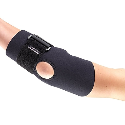OTC Neoprene Elbow Support with Encircling Strap, S, (0302BL-S)