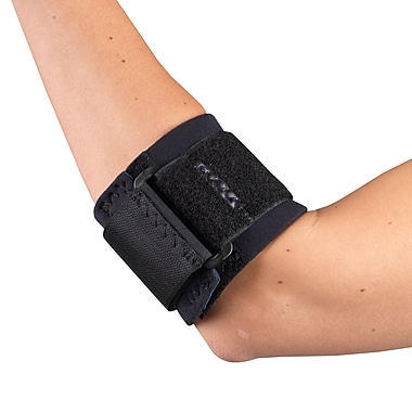 OTC Neoprene Elbow Strap with Support Pad, M, (0301BL-M)