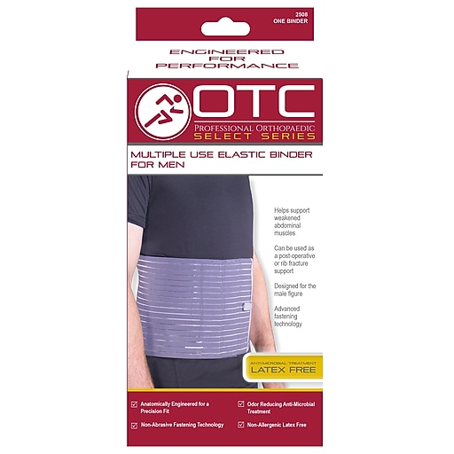 OTC Select Series Multiple Use Binder For Men - 9 inch, 2L, Blue, (2508-2XL)