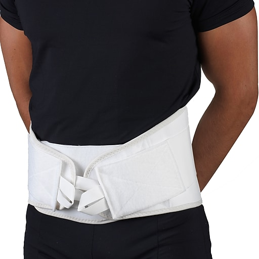"OTC LumboTek Lumbosacral Support with 9"" Back Inserts, L, White, (2895-WH09-L)"