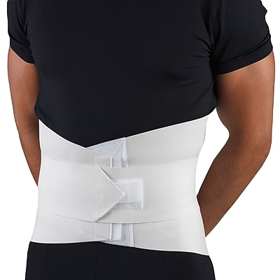 OTC Lumbosacral Support with Abdominal Uplift, L, White, (2890-L)