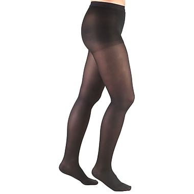 Truform Women's Pantyhose: 20-30 mmHg, M, BLACK (0365BL-M)