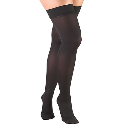 Truform Women's Stockings, Thigh High, Closed Toe: 20-30 mmHg, S, BLACK (0364BL-S)