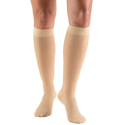 Truform Women's Stockings, Knee High, Sheer: 20-30 mmHg, S, BEIGE (0263BG-S)