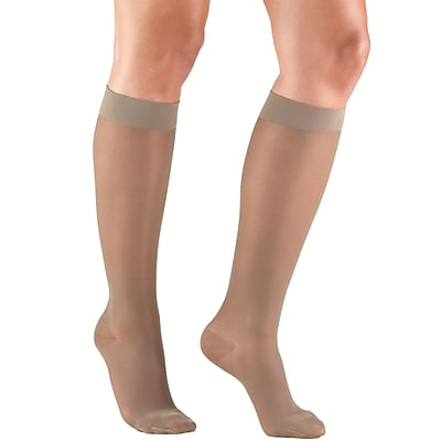 Truform Women's Stockings, Knee High, Sheer: 15-20 mmHg, XL, TAUPE (1773TP-XL)