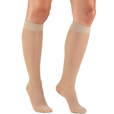 Truform Women's Stockings, Knee High, Sheer: 15-20 mmHg, L, NUDE (1773ND-L)