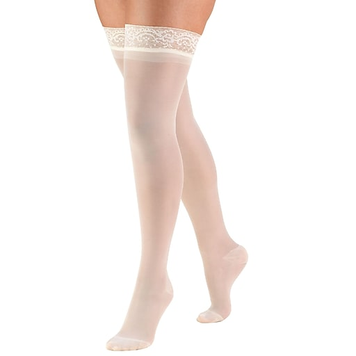 Truform Women's Stockings, Thigh High, Sheer: 15-20 mmHg, S, IVORY (1774IV-S)