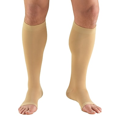 Truform Stockings, Knee High, Open Toe: 15-20 mmHg, XL, BEIGE (0875BG-XL)