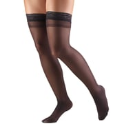 Truform Women's Stockings, Thigh High, Sheer: 8-15 mmHg, S, BLACK (1764BL-S)