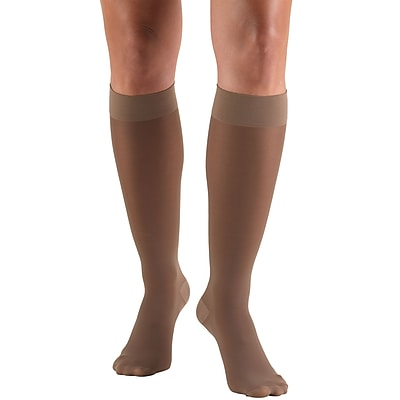 Truform Women's Stockings, Knee High, Sheer: 30-40 mmHg, XL, TAUPE (0253TP-XL)