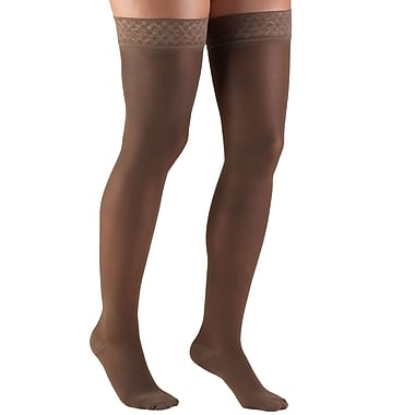 Truform Women's Stockings, Thigh High, Sheer: 20-30 mmHg, L, TAUPE (0264TP-L)