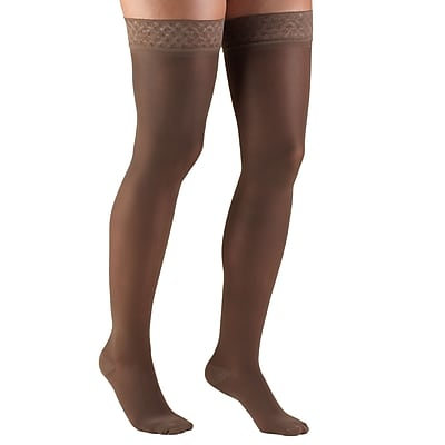 Truform Women's Stockings, Thigh High, Sheer: 30-40 mmHg, M, TAUPE (0254TP-M)