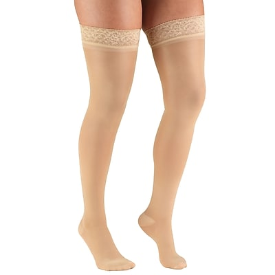 Truform Women's Stockings, Thigh High, Sheer: 30-40 mmHg, S, BEIGE (0254BG-S)