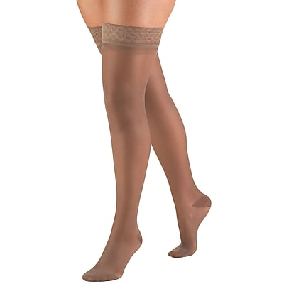 Truform Women's Stockings, Thigh High, Sheer: 15-20 mmHg, M, TAUPE (1774TP-M)