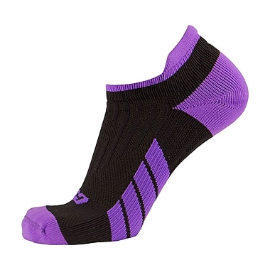 CSX Low Cut Ankle Sock Pro, M, PURPLE ON BLACK (X100PRB-M)