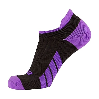 CSX Low Cut Ankle Sock Pro, XL, PURPLE ON BLACK (X100PRB-XL)