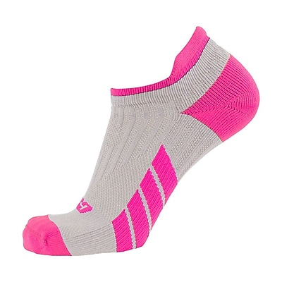 CSX Low Cut Ankle Sock Pro, M, PINK ON GREEN (X100PGR-M)