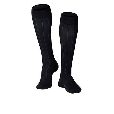 Touch Men's Compression Socks, Knee High, Rib Pattern, 15-20 mmHg, XL, BLACK (1012BL-XL)