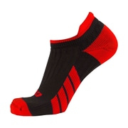 CSX Low Cut Ankle Sock Pro, S, RED ON BLACK (X100RB-S)