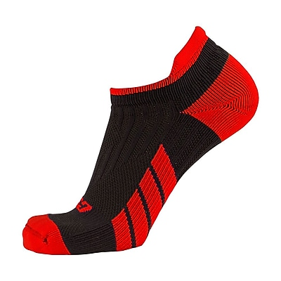 CSX Low Cut Ankle Sock Pro, XL, RED ON BLACK (X100RB-XL)