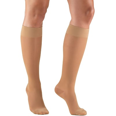 Truform Women's Stockings, Knee High, Sheer: 15-20 mmHg, L, BEIGE (1773BG-L)