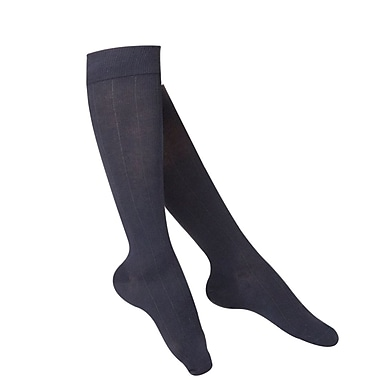 Touch Women's Compression Socks, Knee High, Rib Pattern, 15-20 mmHg, S, NAVY (1062NV-S)