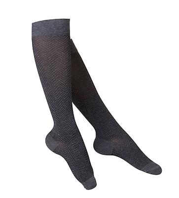 Touch Women's Compression Socks, Knee High, Herringbone Pattern, 15-20 mmHg, L, CHARCOAL (1061CH-L) 2617041
