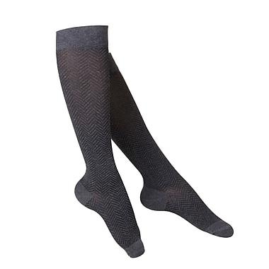 Touch Women's Compression Socks, Knee High, Herringbone Pattern, 15-20 mmHg, S, CHARCOAL (1061CH-S)