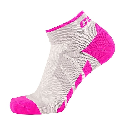 CSX High Cut Ankle Sock Pro, M, PINK ON GREEN (X110PGR-M)