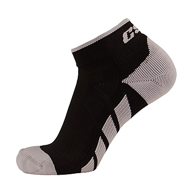 CSX High Cut Ankle Sock Pro, M, SILVER ON BLACK (X110SB-M)