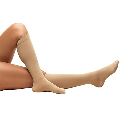 Truform Anti-Embolism Stockings, Knee High, Closed Toe: 18 mmHg, 2L, BEIGE (8808BG-2L)