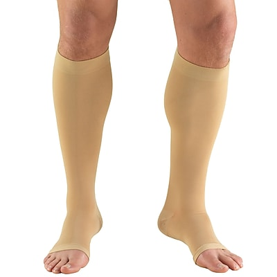 Truform Stockings, Knee High, Open Toe: 30-40 mmHg, L, BEIGE (0845-L)
