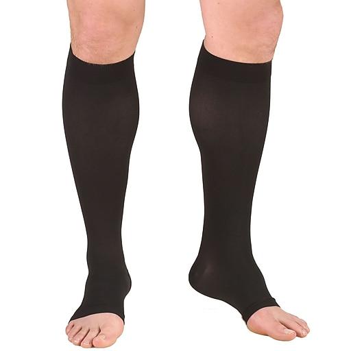 Truform Stockings, Knee High, Open Toe: 30-40 mmHg, 2L, BLACK (0845BL-2L)