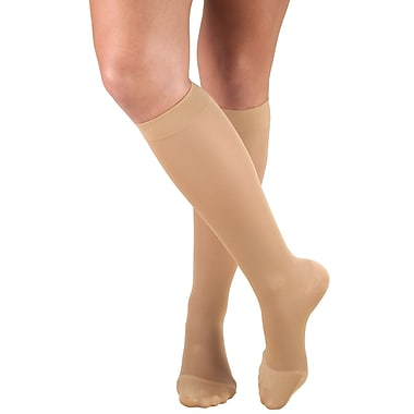 Truform Women's Stockings, Knee High, Closed Toe: 20-30 mmHg, XL, BEIGE (0363BG-XL)