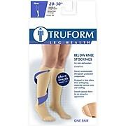 Truform Stockings, Short Length, Knee High, , Closed Toe: 20-30 mmHg, XL, BEIGE (8865S-XL)