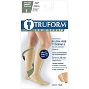 Truform Anti-Embolism Stockings, Knee High, Short Length, Closed Toe: 18 mmHg, XL, BEIGE (8808BGS-XL)