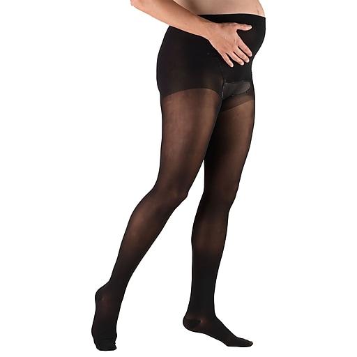 Truform Sheer Pantyhose: 30-40 mmHg, S, BLACK (0267BL-S)