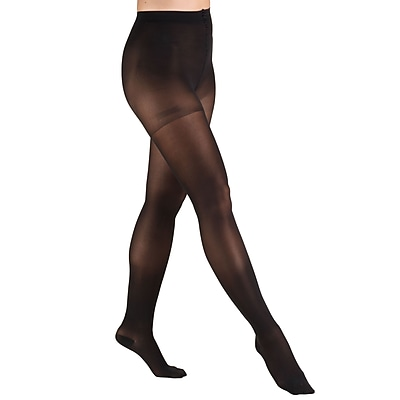 Truform Sheer Pantyhose: 20-30 mmHg, S, BLACK (0265BL-S)