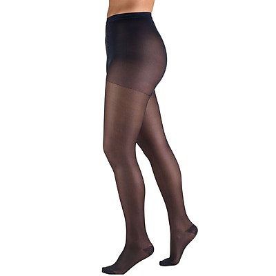 Truform Sheer Pantyhose: 15-20 mmHg, P, NAVY (1775NV-P)