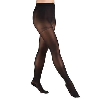 Truform Sheer Pantyhose: 30-40 mmHg, L, BLACK (0255BL-L)