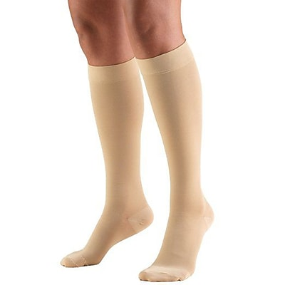 Truform Stockings, Knee High, Open Toe: 15-20 mmHg, M, BEIGE (8875BG-M)