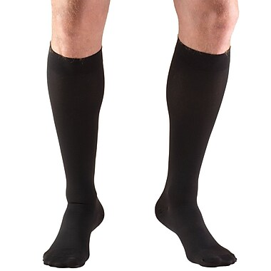 Truform Stockings, Knee High, Open Toe: 15-20 mmHg, M, BLACK (8875BL-M)