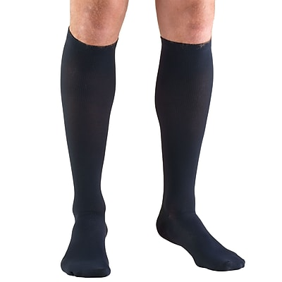 Truform Men's Socks, Knee High, Dress Style: 20-30 mmHg, S, NAVY (1944NV-S)