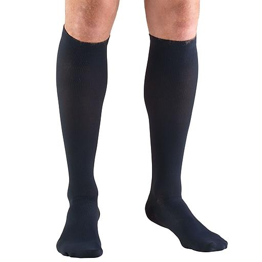 Truform Men's Socks, Knee High, Dress Style: 15-20 mmHg, S, NAVY (1943NV-S)