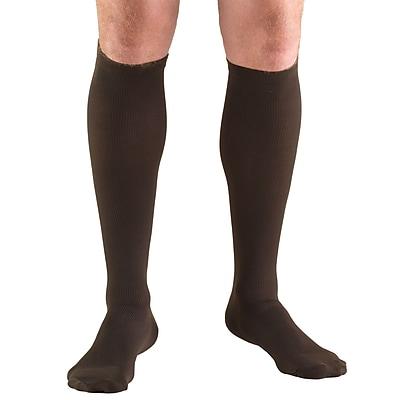 Truform Men's Socks, Knee High, Dress Style: 30-40 mmHg, L, BROWN (1954BN-L)