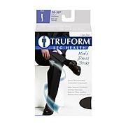 Truform Men's Socks, Knee High, Dress Style: 20-30 mmHg, L, NAVY (1944NV-L)