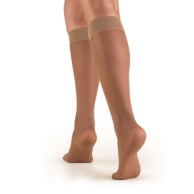 Truform Women's Stockings, Knee High, Sheer: 8-15 mmHg, M, TAUPE (1763TP-M)