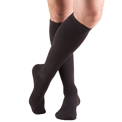 Truform Men's Socks, Knee High, Cushion Foot, Active Casual Style: 15-20 mmHg, XL, BROWN (1933BN-XL)